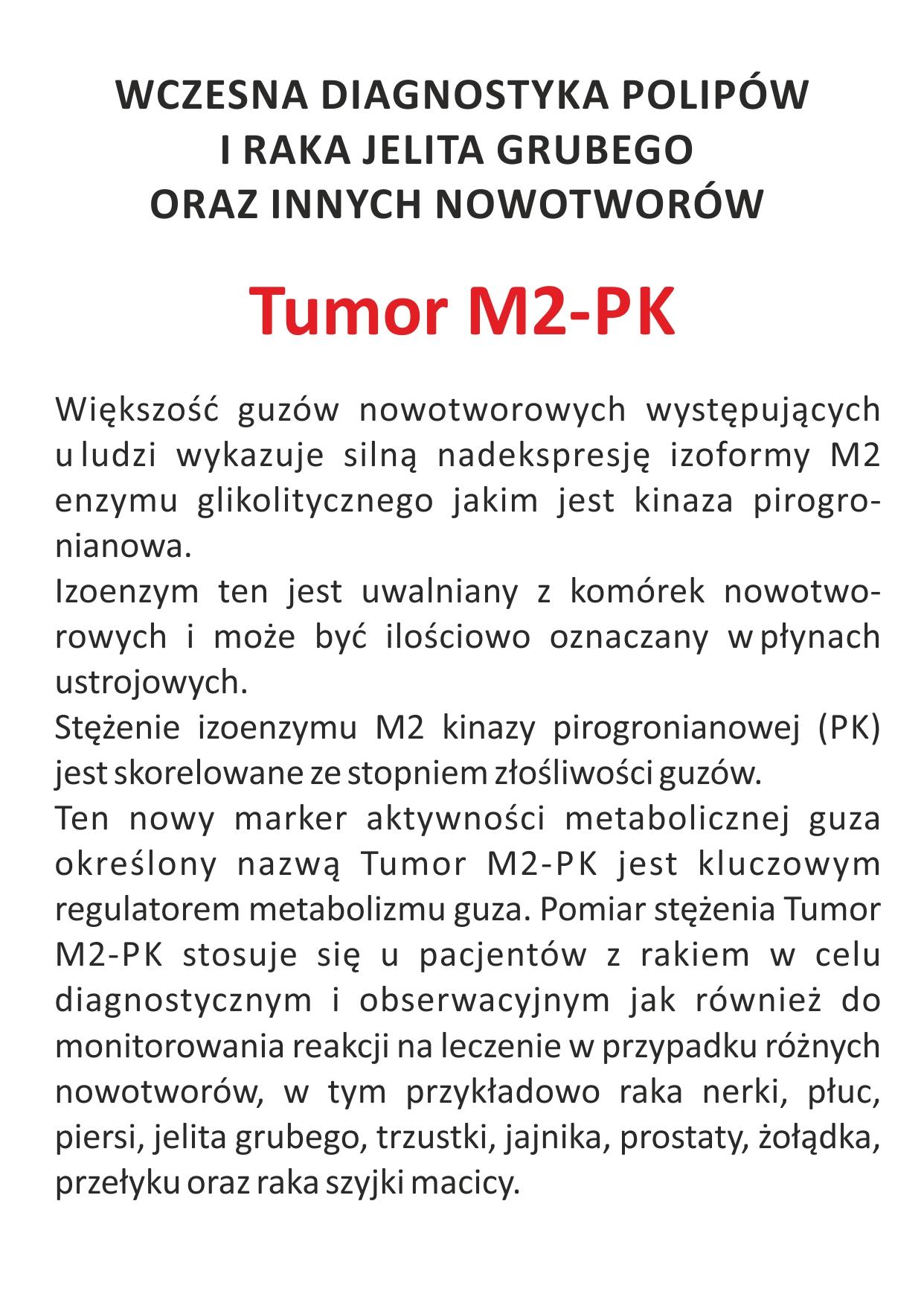 LabTest ulotka A6 Tumor M2-PK